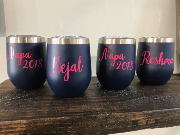 custom matte wine glasses
