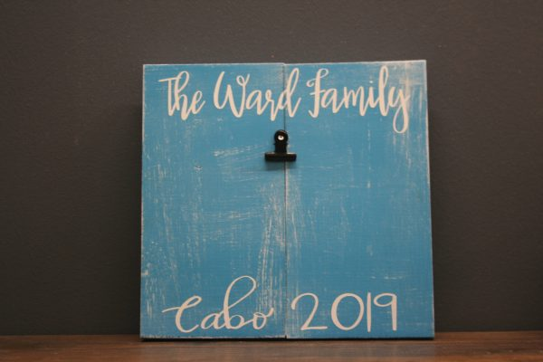 custom wood clip picture frame