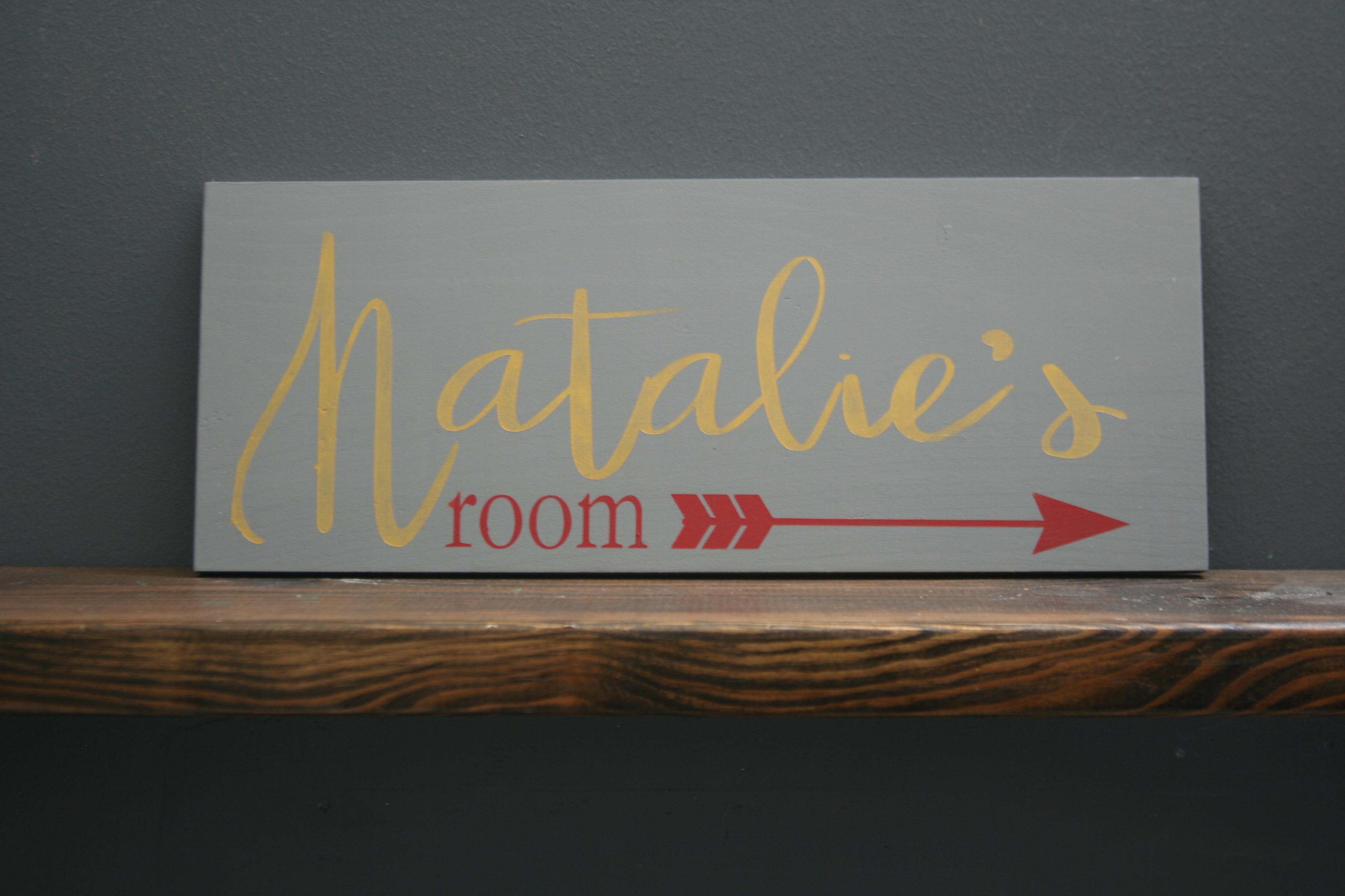 custom room sign natalie's room