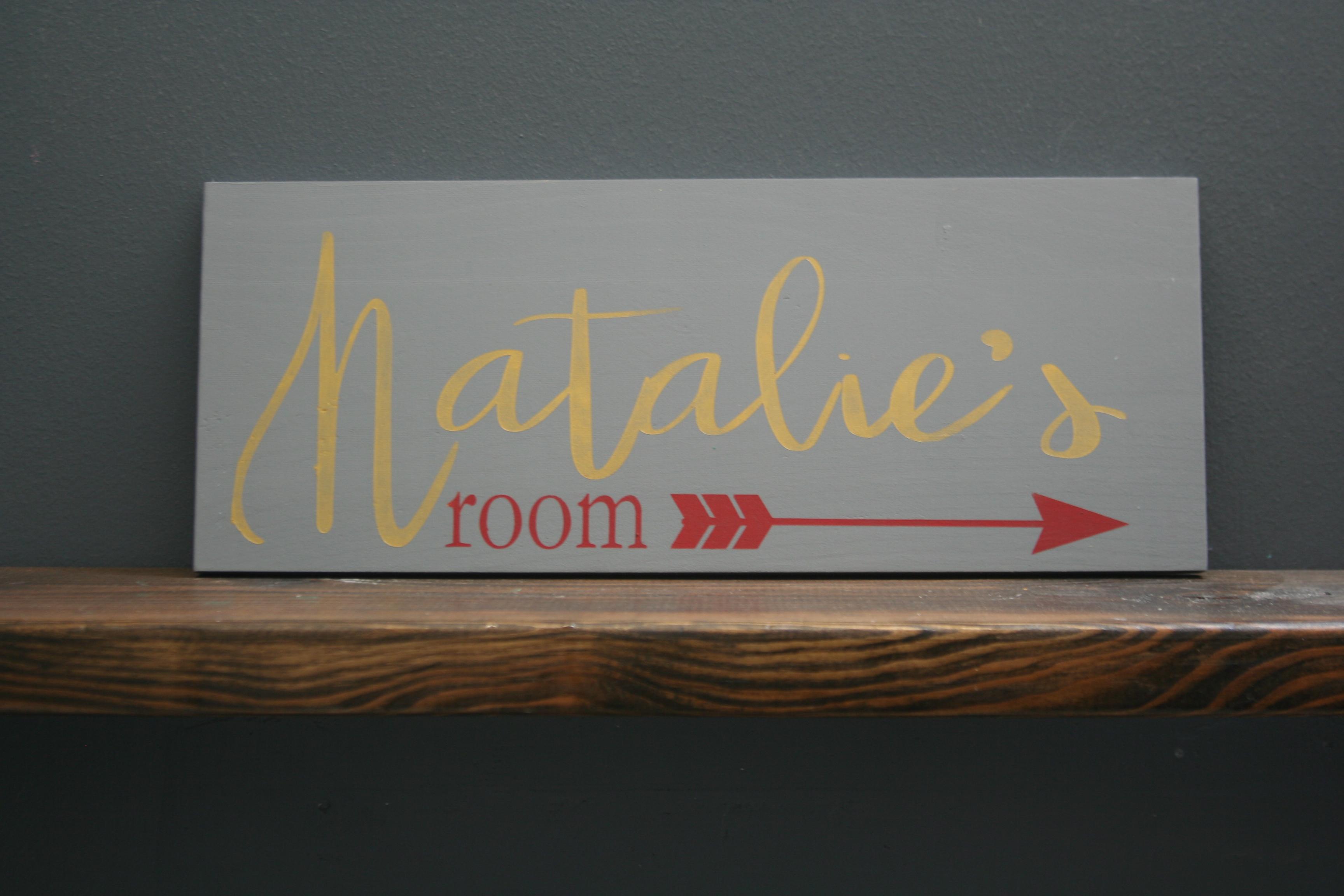 custom room sign natalie's room