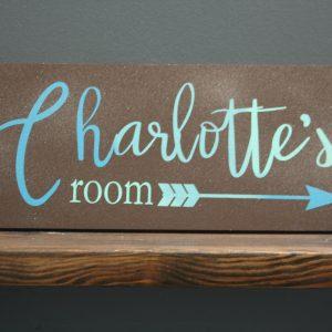 charlottes room custom name sign
