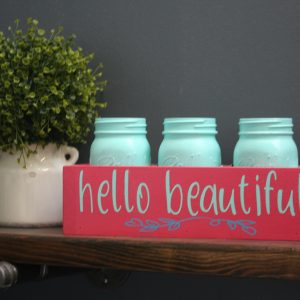 custom hello beautiful box or planter