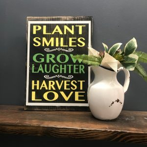 plant grow harvest custom sign