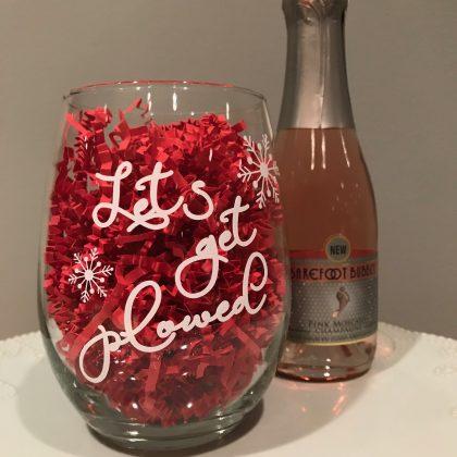 custom quote wine glass