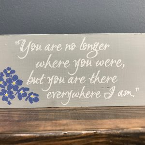 you are no longer where you were on sign