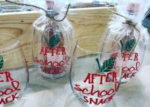 custom quote wine glass