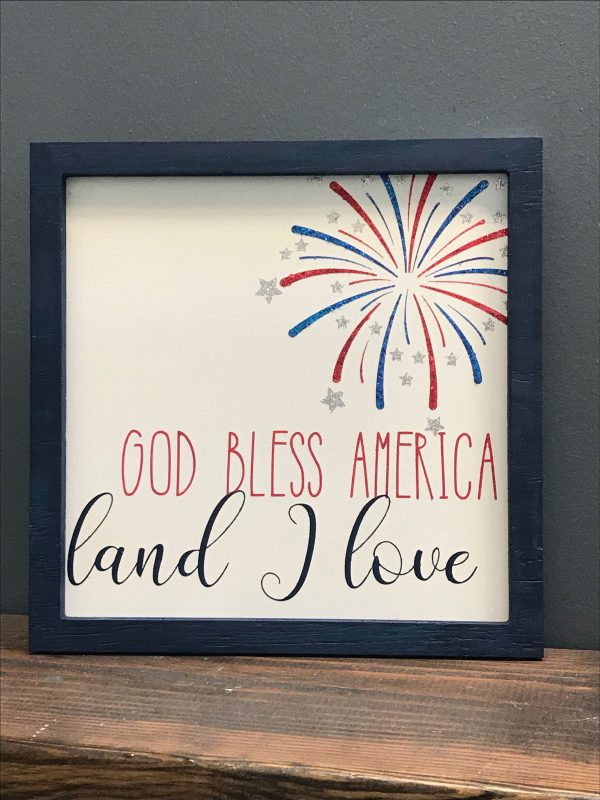 god bless america in frame
