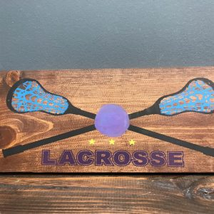 lacrosse design on wood